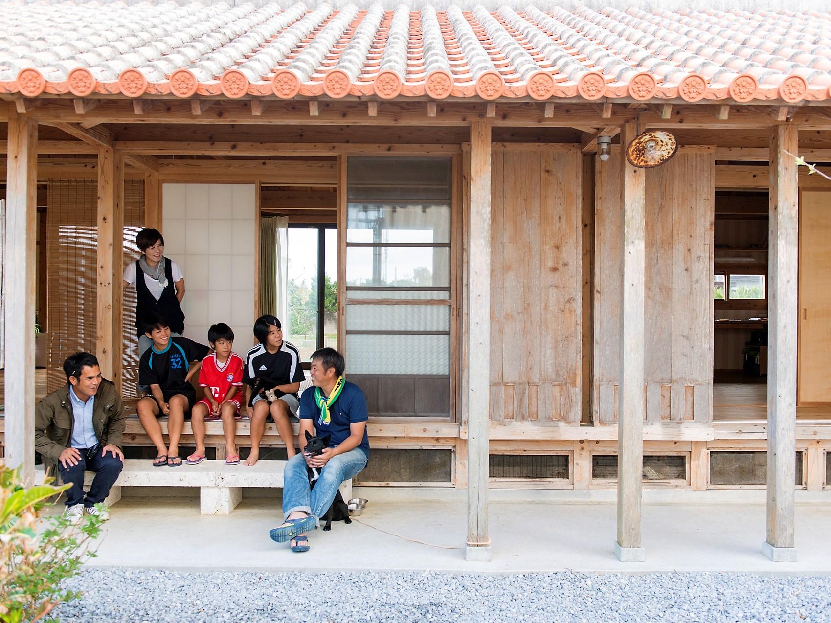 糸満市 木造赤瓦貫屋
